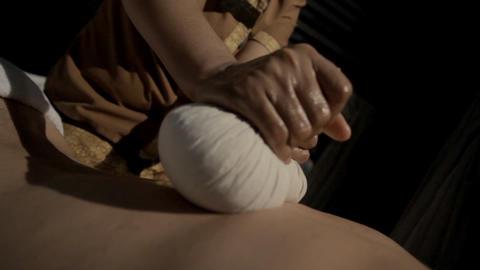 Thai Massage Body Parts Footage