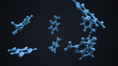 Nucleobases in the nucleic acid of DNA or RNA Animation