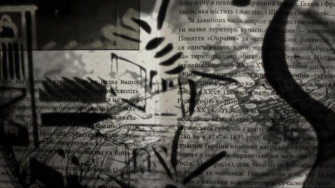 Book Pages and Graffiti Mix CG動画素材