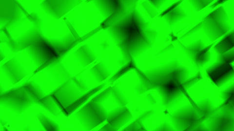 Green Abstract Shimmering Squares Motion Background Loop Animation