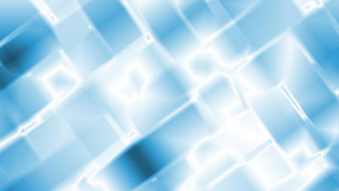 Blue Abstract Glowing Squares Motion Background Loop Animation