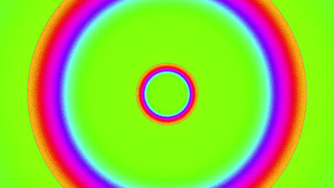 Psychedelic Color Cycle Circles Burst VJ Background 2 Animation