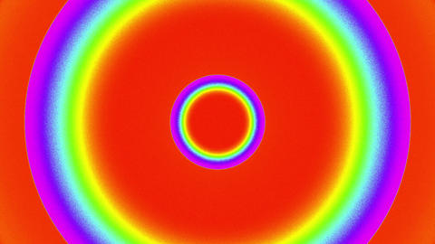 Psychedelic Color Circles Burst VJ Background 2 Animation