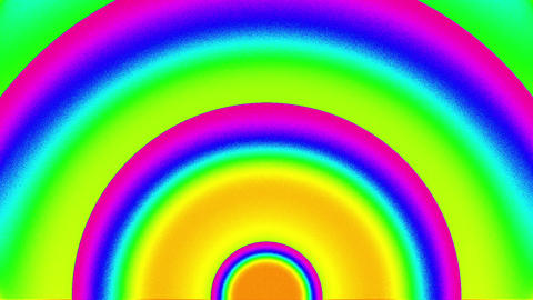 Psychedelic Color Cycle Arch Circles Burst VJ Background 1 CG動画素材