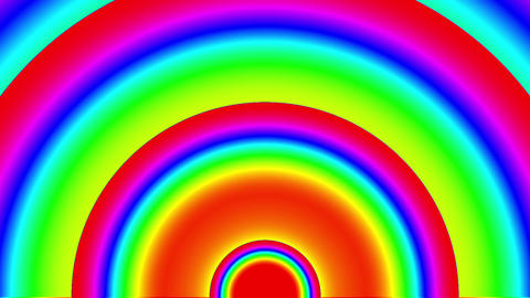 Psychedelic Color Arch Circles Burst VJ Background 1 CG動画素材