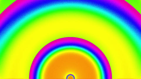Psychedelic Color Cycle Arch Circles Burst VJ Background 2 CG動画素材
