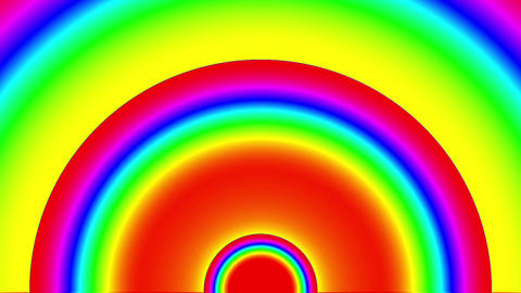 Psychedelic Color Arch Circles Burst VJ Background 2 CG動画素材