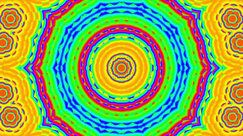 Fast Psychedelic Color Cycle Hexagonal Pattern Colorful Kaleidoscope 1 Animación