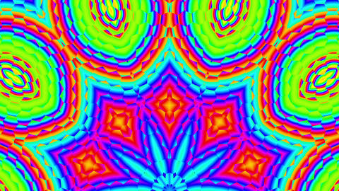 Fast Psychedelic Color Cycle Hexagonal Pattern Colorful Kaleidoscope 3 Animación