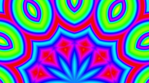 Fast Psychedelic Color Cycle Colorful Kaleidoscope 3 Animation