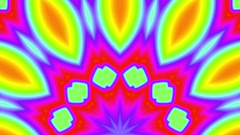 Fast Psychedelic Color Cycle Colorful Kaleidoscope 4 Animación