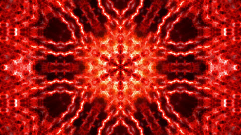 Hypnotic Red Complex Intricate Kaleidoscope 1 Animación