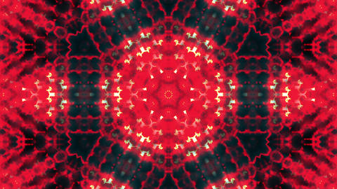 Hypnotic Red Complex Intricate Kaleidoscope 2 Animación
