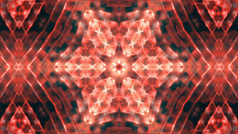 Hypnotic Red Complex Intricate Kaleidoscope 3 Animación