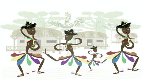 African dancers Animation