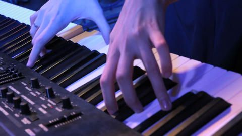 hands music 01 Stock Video Footage