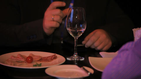 men hands and drink Stock Video Footage