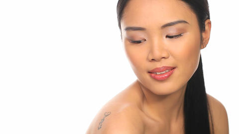 Topless woman Stock Video Footage
