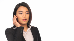 Businesswoman calling Stock Video Footage