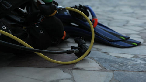 diving training 04 Stock Video Footage