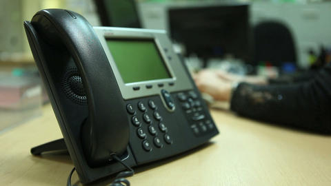 Telephone And Hand stock footage