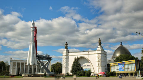 All Russian Exhibition Center Stock Video Footage