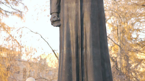 Felix Dzerzhinsky Statue Stock Video Footage