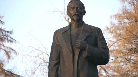 Felix Dzerzhinsky Statue stock footage