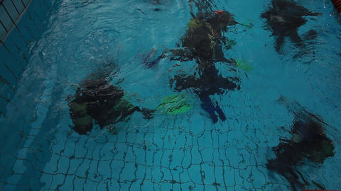 diving pool 07 Stock Video Footage