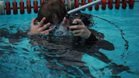 diving pool 16 Stock Video Footage