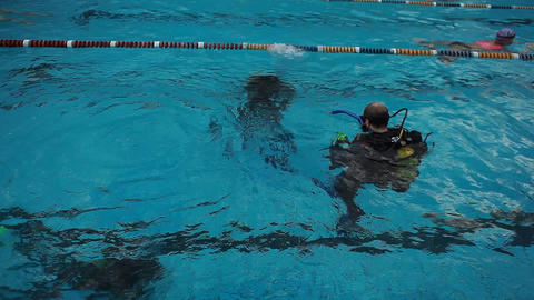 diving pool 33 Stock Video Footage