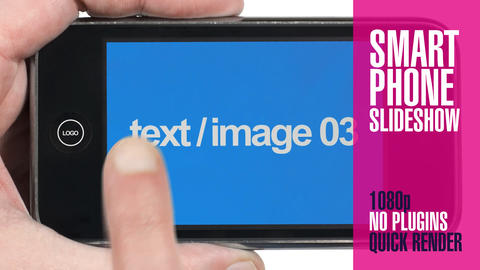 Smart Phone Hand Held Slideshow After Effects Template