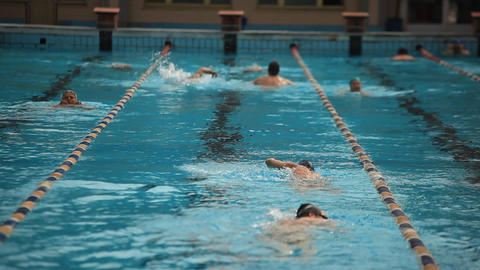 pool 17 Stock Video Footage