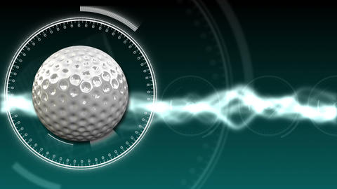 Golf Ball Background 05 (HD) Stock Video Footage