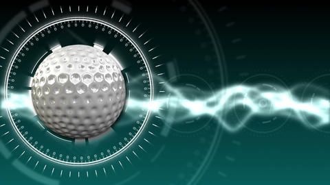 Golf Ball Background 05 (HD) CG動画素材