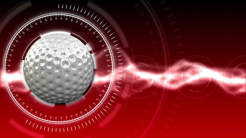 Golf Ball Background 07 (HD) Stock Video Footage