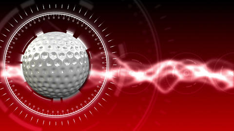 Golf Ball Background 07 (HD) CG動画素材