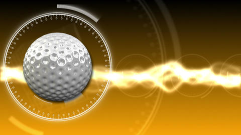Golf Ball Background 09 (HD) CG動画素材