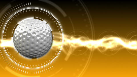 Golf Ball Background 09 (HD) Stock Video Footage
