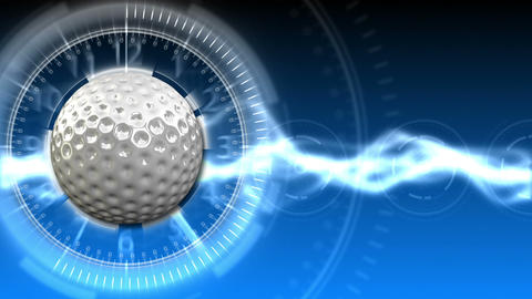 Golf Ball Background 11 (HD) Stock Video Footage