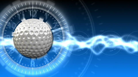 Golf Ball Background 11 (HD) CG動画素材