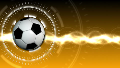 Soccer Ball Sport Background 06 (HD) stock footage