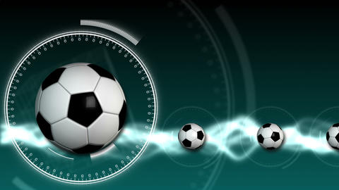 Soccer Ball Sport Background 08 (HD) Stock Video Footage