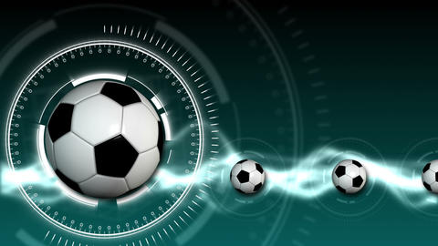 Soccer Ball Sport Background 08 (HD) Animation