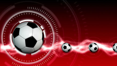 Soccer Ball Sport Background 10 (HD) Stock Video Footage