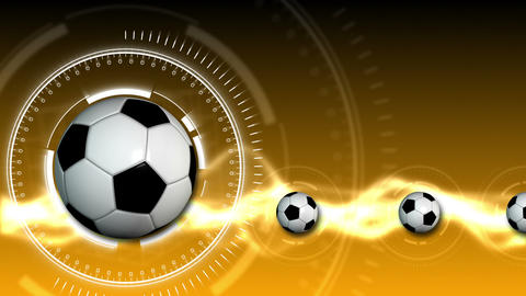 Soccer Ball Sport Background 12 (HD) Animation
