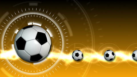 Soccer Ball Sport Background 12 (HD) Stock Video Footage