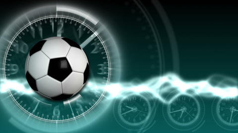 Soccer Ball Sport Background 14 (HD) Stock Video Footage