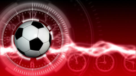 Soccer Ball Sport Background 16 (HD) Stock Video Footage