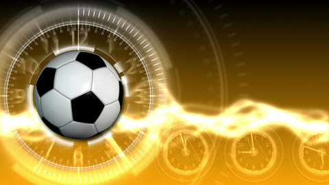 Soccer Ball Sport Background 18 (HD) Stock Video Footage